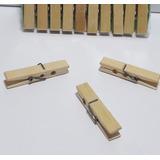 Prendedor De Bambú Especial 6cm Roupas Varal Kit Com 20 Pçs