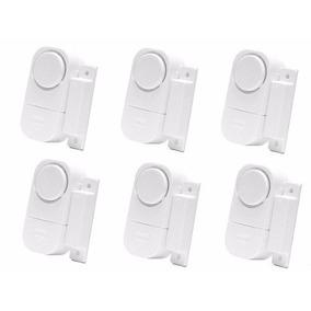 Kit Com 6 Alarmes Sensor Magnético Residencial Porta Janela