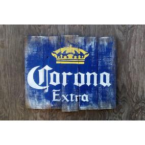 Cerveza Corona Anuncio Letero Envejecido
