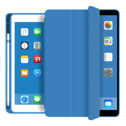 Capa Smartcase Apple iPad 10.2 7th Suporte Pencil Surf Blue