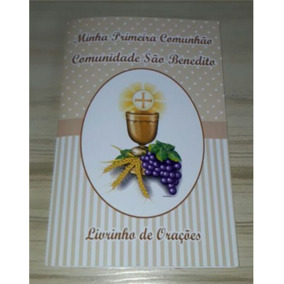 23 Livrinhos De Orações Primeira Comunhão Eucaristia Bege