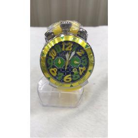 Relógio Neymar Gagga Milano Itáliano Amarelo Frete Grátis
