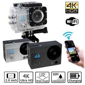 Action Câmera Sports Ultra Hd Wi-fi 4k Tela Lcd + Acessórios