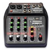 Mesa De Som 4 Canais Interface Gravação Live Usb Mc4bt Gb Nf