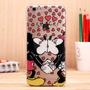 Capinha Capa Iphone 5/5s/se Mickey Minnie Beijo + P D Vidro