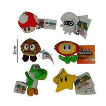 Super Mario Bros Set Peluchitos Yoshi Hongo Estrella Flor