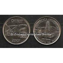 2 Pesos Petroleo Chubut De 2007, Cj 7.4.3, Km 145, Unc