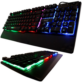 Teclado Gamer Led Rgb Tecla Ghost Luminoso Neon Usb Hz-100