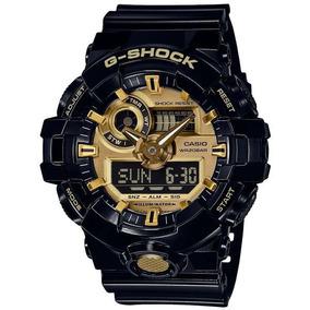 Relógio Casio G-shock Anadigi Ga-710gb-1adr Black/gold
