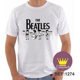 Camiseta Adulto The Beatles John Lennon Paul Mccartney 02