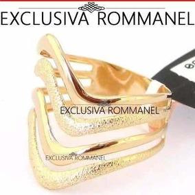 Anel Rommanel Com Detalhes Ondulados E Granitado 510831