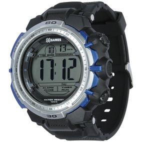 Relógio Masculino X-games Xmppd404-bxpx 55 Mm Borracha Preto