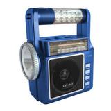 Bocina Recargable Usb Lax Max 1831 Am-fm Con Lampara Azul