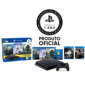 Console Playstation 4 Slim 1tb Hits Bundle + 5 Jogos - Ps4