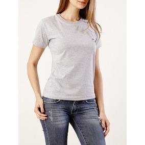Camiseta Feminina Baby Look Básica Blusa 100% Algodão 4b2cc2de389