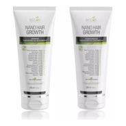 Kit Eccos Cosméticos Nano Hair Growth C/ Fatores Do Crescimento Shampoo 250ml + Condicionador 250ml + Brinde