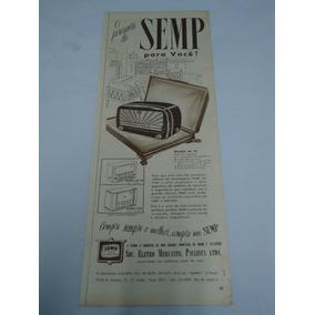Propaganda De 1952 Radio E Televisão Semp Produtos Johnson