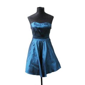 Vestido Straples De Shantu Brilloso Elegante - Envios