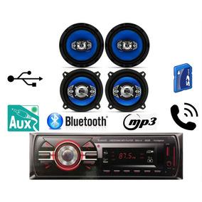 Kit Alto Falante 5 E 6 Pol + Rádio Usb Bluetooth Palio Celta