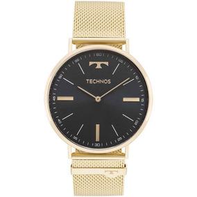 3239a4d062870 Relogio Technos Slim Dourado Masculino - Relógio Technos no Mercado ...