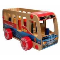 Ônibus Pedagógico Com Pinos Nina Brinquedos Educativos