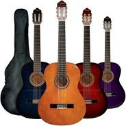 Guitarra Criolla Negra Modelo Avanzado Cenefa Tensor + Funda