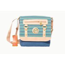 Bolso Cruzado Para Dama De Saco Bellagio Bags Color Azul