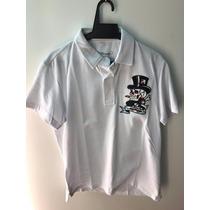 Camisa Gola Polo Ed Hardy Masculina Christian Audigier White