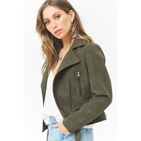 Campera Forever 21 Mujer, Color Olive, Importada