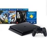 Playstation 4 Slim 500gb Hits Bundle 3 Jogos 12x - Play 4