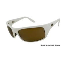 Gafas De Sol Maui Jim H202 Peahi - Lente Café Marco Blanco