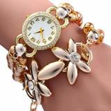 Relógio Feminino De Luxo Moda Pulseiras Lindas Frete Gratis