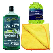 Kit Lavagem Automotiva Monster + Luva Micro Fibra Cadillac