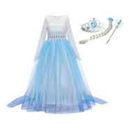 Fantasia Festa Infantil Elsa Filme Frozen 2 Com Acessórios