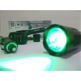 Lanterna De Led Police Luz Verde P/ Caça + Acionador Remoto!