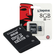 Memoria Micro Sd 8gb Kingston Clase 4 Cel Tablet Camara
