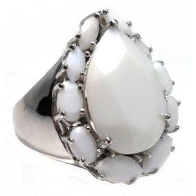 4c3193da52ae3 Crb Anel Prata 925 Coral Onix Branco Zirconias Rodio Frete - Joias e ...