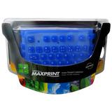 Teclado Maxprint Flexível Luminoso Usb Azul