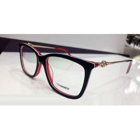 46083e46db403 Oculos Chanel Redondo Armacao - Óculos De Grau no Mercado Livre Brasil