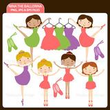 Kit Imprimible Bailarinas Nena Ballet 7 Imagenes Clipart