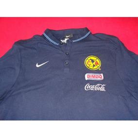 America Camisa Polo Azul Futbol Liga Mx