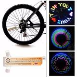 Pito De Led Acessório P Bicicleta 31 Textos Válvula P Raios