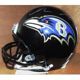 Casco Riddell Proline Cuervos Baltimore Firmado Chris Moore