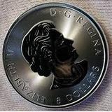 Moneda Maple Leaf Auténtica Plata Pura Cuatro 9999