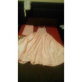 Vestido De Xv Años Color Melon Con Chalina