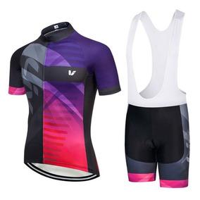 Set Ciclismo Liv Beliv 2018 Purpur Mujer, Jersey + Short Bib