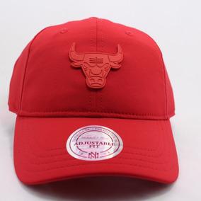 Boné Chicago Bulls Mitchell Ness Snapback Aba Reta Denim - Bonés ... ebc1d4675faed