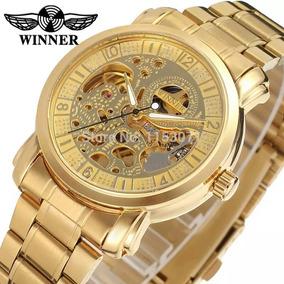78b2946e334 Lindo Relogio Esqueleto Winner Dourado - Joias e Relógios no Mercado ...
