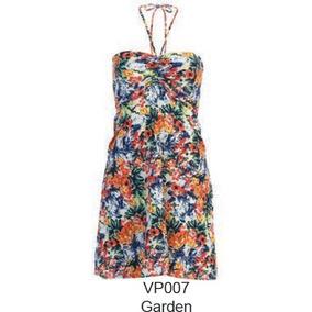 Vestido Para Playa Marca Marina West - Modelo Garden T-l/xl