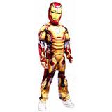 Fantasia Do Homen De Ferro Luxo Infantil C/ Musculo